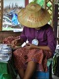 agricoltore come venditore Fotografie Stock