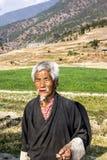 Agricoltore del Bhutanese Fotografie Stock Libere da Diritti