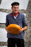 Agricoltore del formaggio olandese Immagini Stock Libere da Diritti