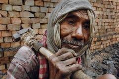 Agricoltore del mattone in Bengala-India ad ovest Fotografie Stock Libere da Diritti