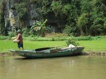 Agricoltore del riso Fotografie Stock Libere da Diritti