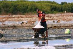 Agricoltore del sale Fotografia Stock Libera da Diritti