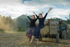 Agricoltore di felicità Immagine Stock