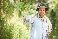 Agricoltore di mezza età Immagine Stock