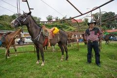 Agricoltore di Tico in Costa Rica Fotografia Stock