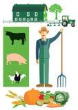 Agricoltore e coltivare Immagini Stock Libere da Diritti
