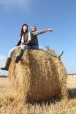 Agricoltore e moglie Immagini Stock