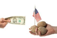 Agricoltore ed uomo d'affari americani Immagine Stock