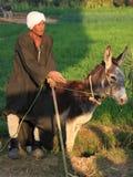 Agricoltore egiziano Immagini Stock