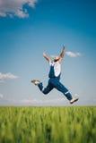 Agricoltore felice nel grano Immagine Stock Libera da Diritti