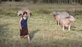 Agricoltore femminile tailandese Fotografie Stock