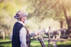 Agricoltore fuori in natura Immagine Stock Libera da Diritti