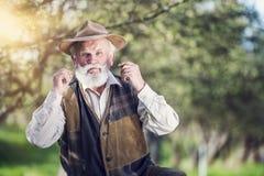 Agricoltore fuori in natura Immagini Stock Libere da Diritti