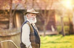 Agricoltore fuori in natura Fotografia Stock Libera da Diritti