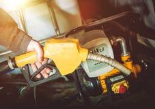 Agricoltore Gasoline Diesel Pump Immagine Stock Libera da Diritti