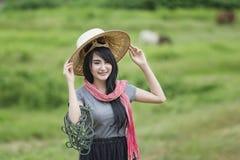 Agricoltore Girl Fotografie Stock