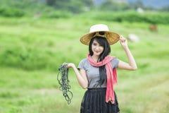 Agricoltore Girl Immagini Stock