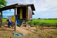 Agricoltore Hut alla Tailandia Fotografia Stock Libera da Diritti