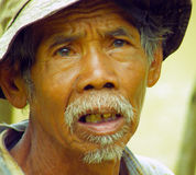 Agricoltore indonesiano Fotografie Stock