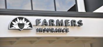 Agricoltore Insurance Sign Fotografie Stock Libere da Diritti