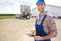 Agricoltore lavorante Immagine Stock