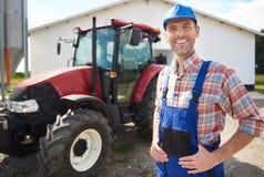 Agricoltore lavorante Immagini Stock Libere da Diritti