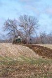 Agricoltore lavorante all'evento nel Michigan Fotografia Stock