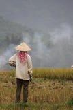 Agricoltore in Mai Chau Fotografia Stock Libera da Diritti