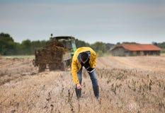 Agricoltore nel campo Immagini Stock
