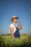 Agricoltore nel campo Fotografie Stock
