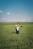Agricoltore nel campo Fotografia Stock