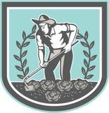 Agricoltore organico Grabhoe Plant Shield royalty illustrazione gratis