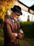 Agricoltore rumeno anziano Immagini Stock