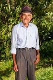 Agricoltore senior all'aperto Fotografie Stock