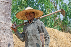 Agricoltore senior asiatico Fotografie Stock