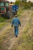 Agricoltore sul campo, cereale Immagine Stock