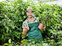 Agricoltore sul lavoro Fotografie Stock