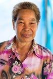 Agricoltore tailandese del baco da seta Fotografia Stock