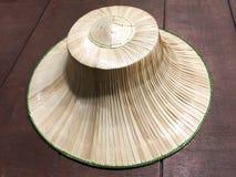 Agricoltore tailandese Hat fatto delle foglie di palma tessute Immagini Stock