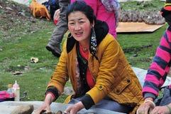 Agricoltore tibetano Fotografia Stock Libera da Diritti