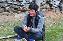 Agricoltore tibetano Immagine Stock