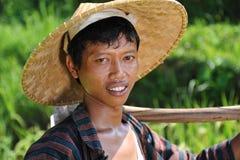 Agricoltore tradizionale del riso Fotografia Stock Libera da Diritti