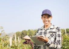 Agricoltori del peperoncino rosso Fotografie Stock Libere da Diritti