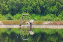 Agricoltori del sale con il rullo dell'automobile Fotografia Stock