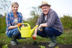 Agricoltori felici Immagini Stock Libere da Diritti
