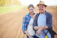 Agricoltori sul campo Fotografia Stock