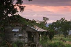 Agricoltura abbandonata sparsa nel paese Immagini Stock