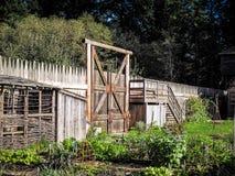 Agricoltura all'antica nella fortificazione Fotografia Stock