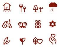Agricoltura & icone di azienda agricola impostate Fotografia Stock