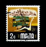 Agricoltura, aspetti del serie di Malta, circa 1973 Fotografia Stock Libera da Diritti